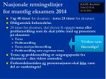 nasjonale retningslinjer for muntlig eksamen 2014