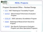 resl projects