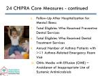 24 chipra core measures continued
