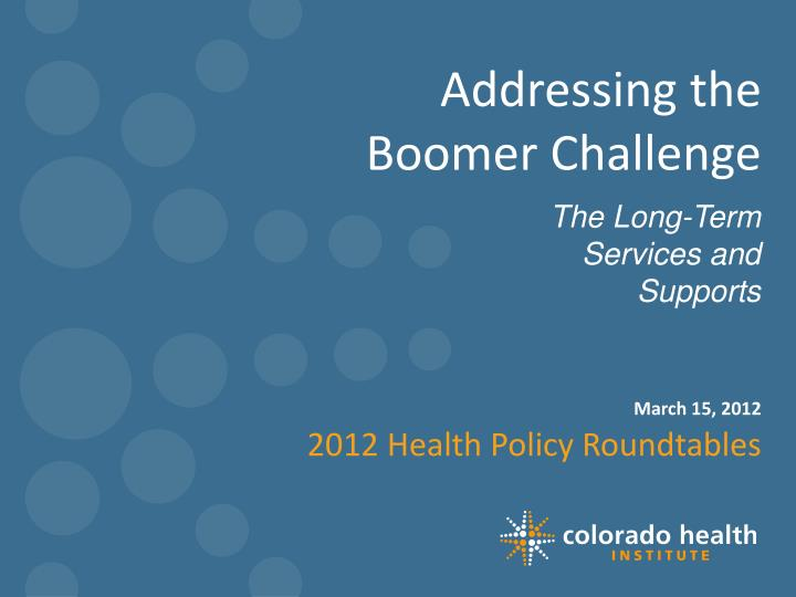 addressing the boomer challenge n.