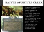 battle of kettle creek