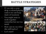battle strategies