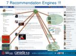 7 recommendation engines