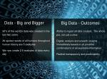 big data outcomes