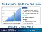media online traditional and social