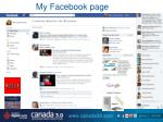 my f acebook page