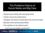 the predictive nature of social media and big data