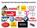 companies from german speaking countries