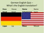 german english quiz what s the english translation