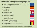 german is the official language of