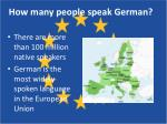 how many people speak german