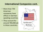 international companies cont