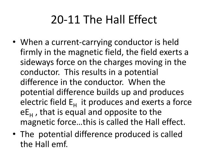 20 11 the hall effect n.