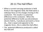 20 11 the hall effect