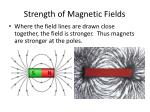 strength of magnetic fields