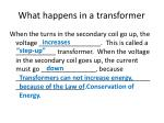 what happens in a transformer