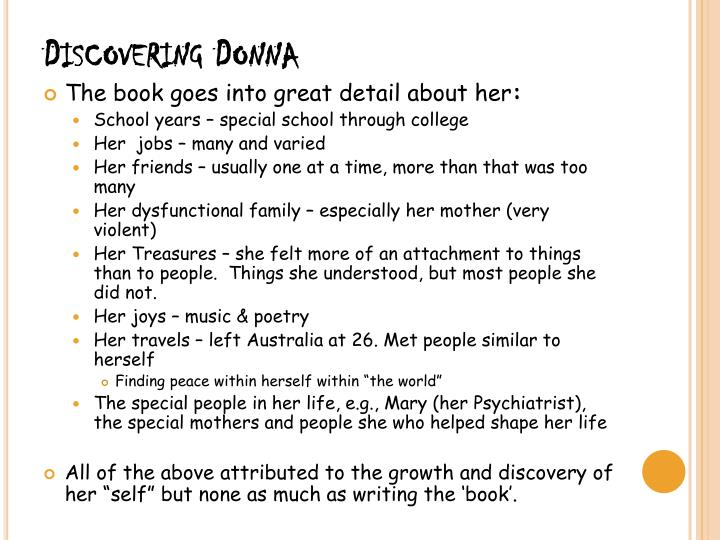 Discovering Donna