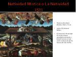 natividad m stica o la natividad 1501