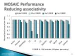 mosaic performance reducing associativity