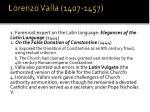 lorenzo valla 1407 1457