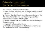 petrarch 1304 1374 the father of humanism