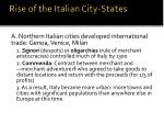 rise of the italian city states