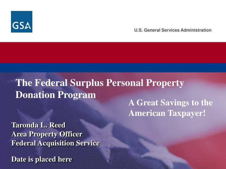 the federal surplus personal property donation program n.