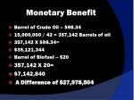 monetary benefit