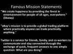 famous mission statements