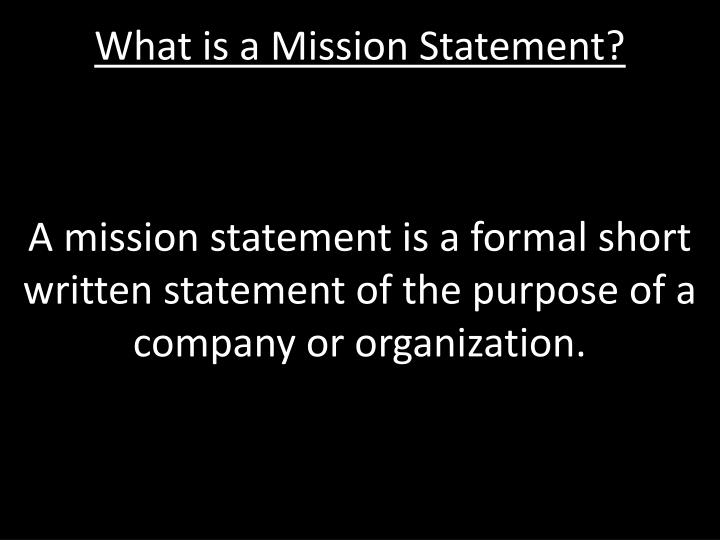 what is a mission statement n.