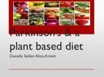 parkinson s a plant based diet