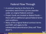 federal flow through