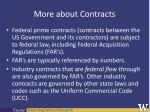 more about contracts