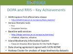 dopa and rris key achievements