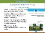 ecosystem services key achievements