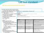 lab test standard
