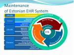 maintenance of estonian ehr system