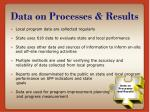 data on processes results