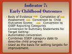 indicator 7 early childhood outcomes3