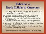 indicator 7 early childhood outcomes5