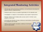 integrated monitoring activities