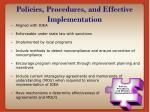 policies procedures and effective implementation
