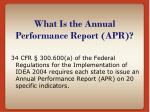 what is the annual performance report apr