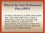 what is the state performance plan spp