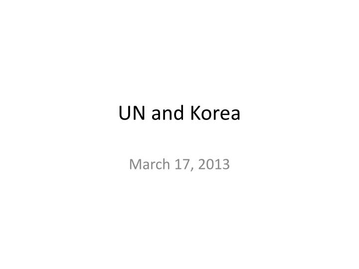 un and korea n.