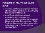 pengenalan ms visual studio 20081