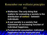 remember our welfarist principles 1