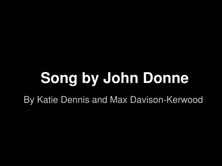 song by john donne n.