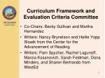 curriculum framework and evaluation criteria committee1