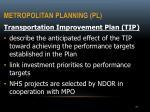 metropolitan planning pl2